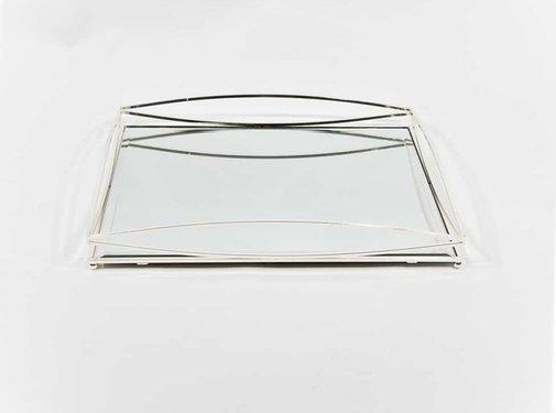 Erik Kuster Style Dienblad Royal+Zilver Glas - Zilver