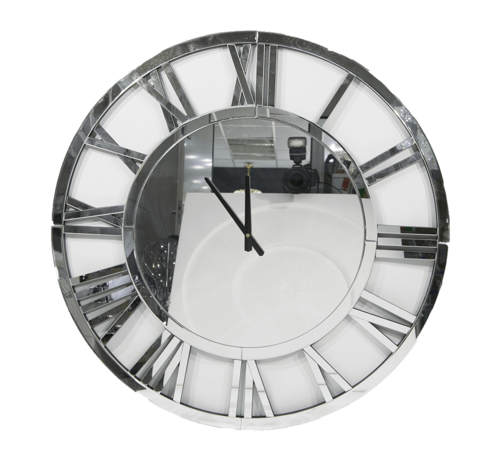Erik Kuster Style Erik Kuster Style klok in  kleuren ,Zilver 60 cm