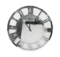 Erik Kuster Style klok in  kleuren ,Zilver 60 cm