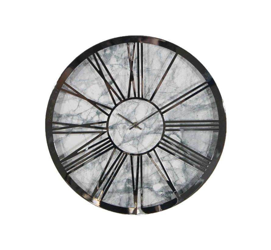 Ronde klok PL16 Zilver