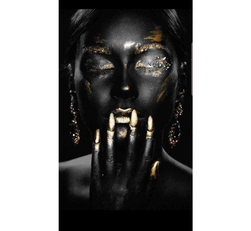 Art-deco-Style Art Golden  Girl