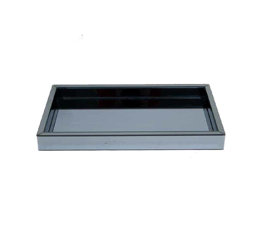Dienblad 30 x 50 cm Spiegelglas in de Eric Kuster Style 5 kleuren - Antraciet