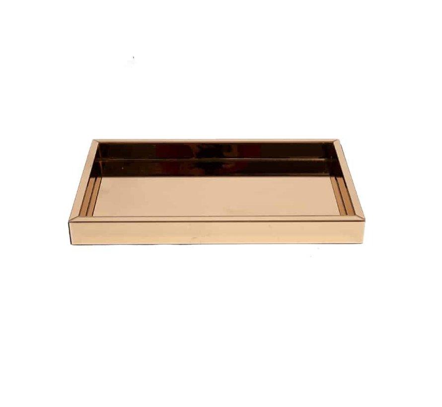 Dienblad 30 x 50 cm Spiegelglas in de Eric Kuster Style 5 kleuren - Goud