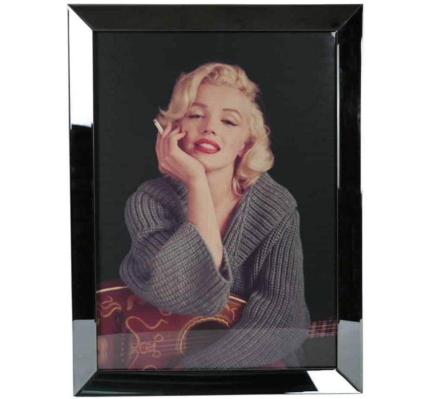 Spiegelijst Marilyn Monroe Smoking - Zilver