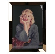Erik Kuster Style Spiegelijst Marilyn Monroe Smoking - Goud