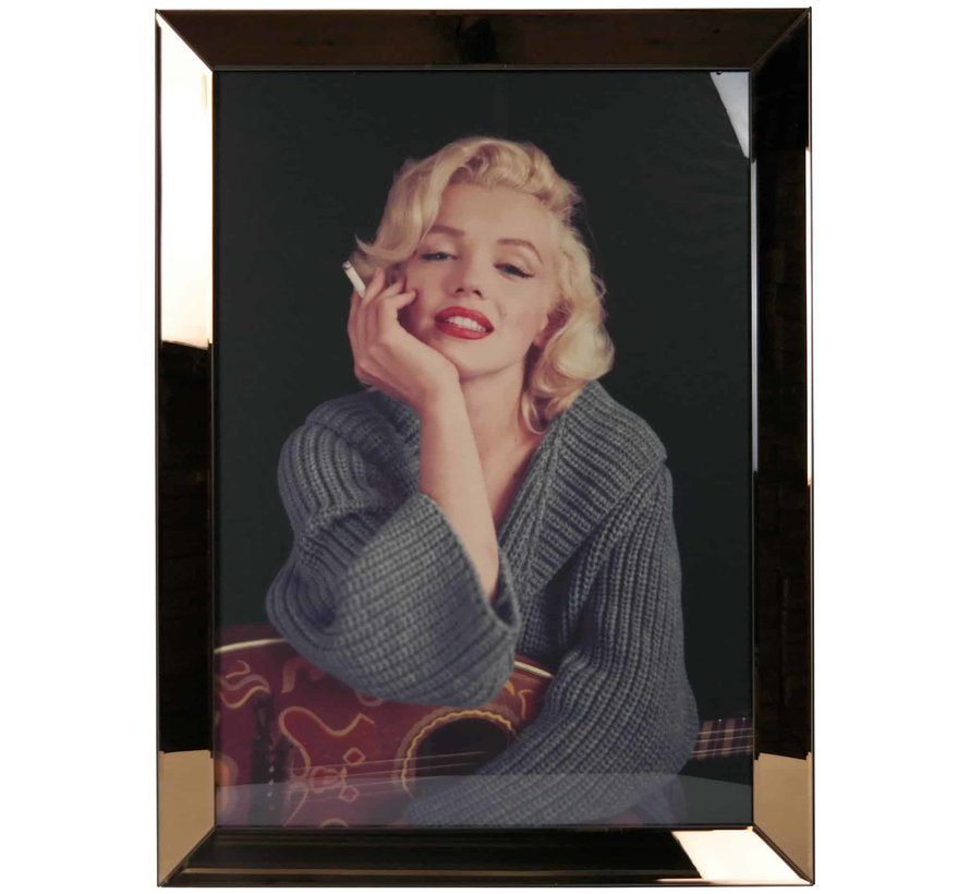 Spiegelijst Marilyn Monroe Smoking - Goud