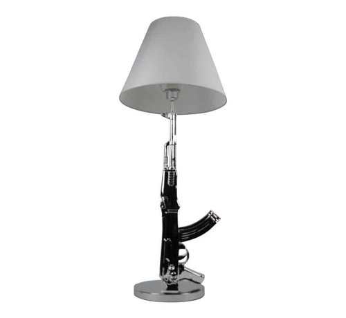 Erik Kuster Style vloerlamp/tafellamp AK-47 zilver