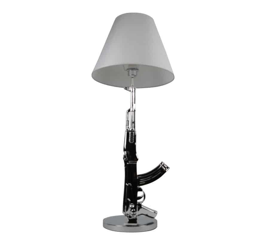 vloerlamp/tafellamp AK-47 zilver