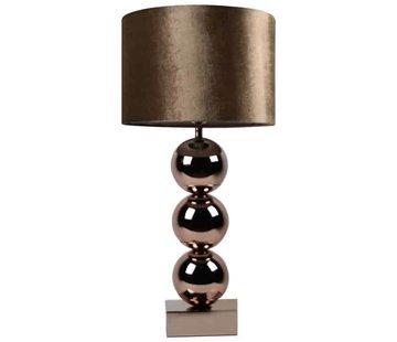 Eric Kuster Style Bollamp Tafellamp Brons 3 Bollen  Vierkante Voet
