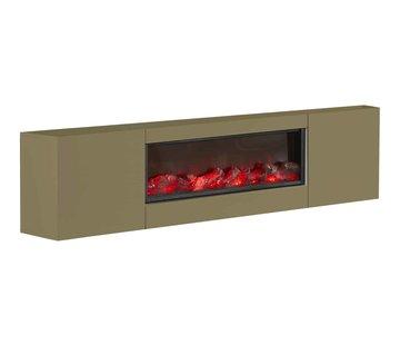 Blocci TV-meubel  met/zonder ingebouwde sfeerhaard - Goud