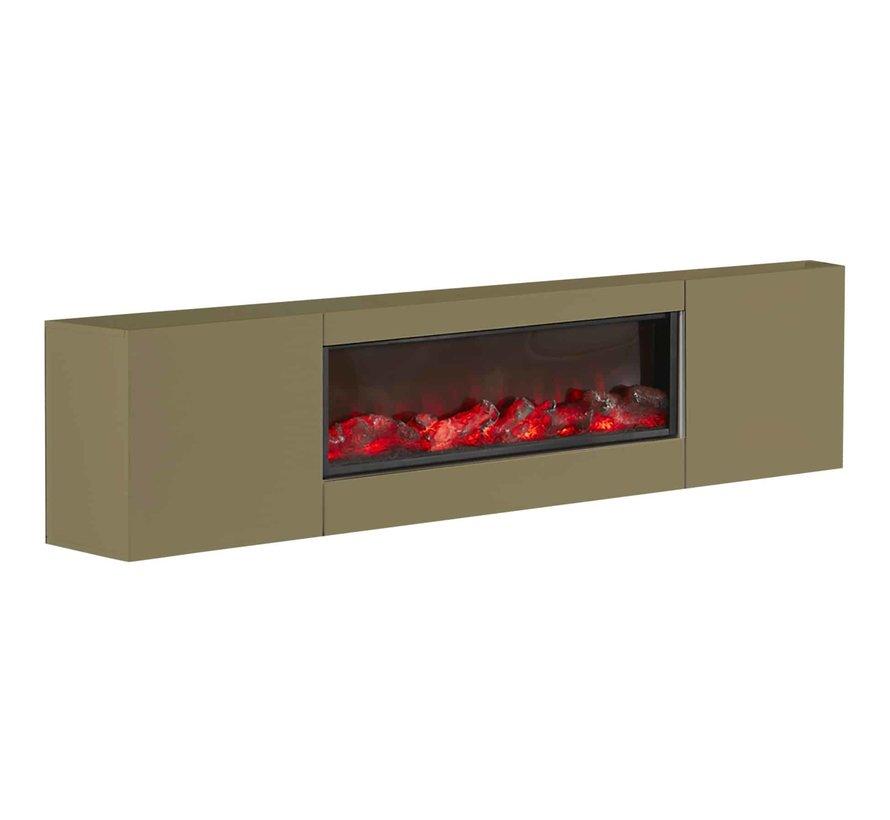 TV-meubel  met/zonder ingebouwde sfeerhaard - Goud