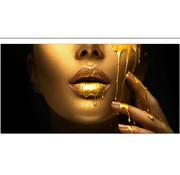 Art-deco-Style Art Deco Golden Lips 120x240