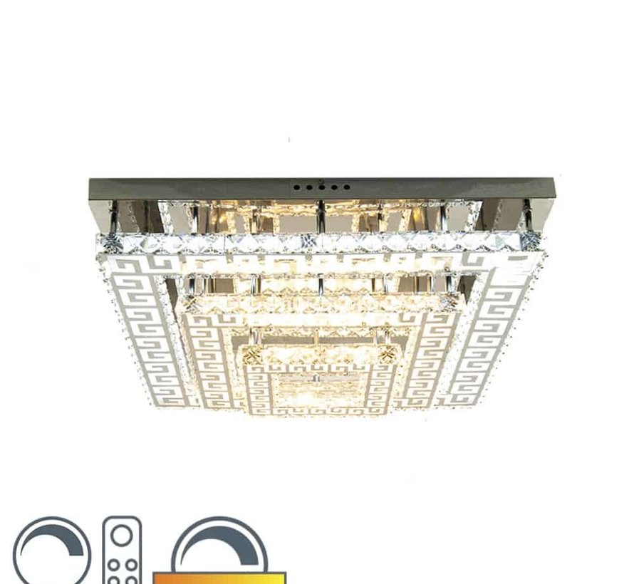 Led 2 kleuren Plafondlamp in de Erik Kuster Style met Afstandbediening