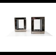 Erik Kuster Style Waxinelichthouder Glas Eric Kuster Style 4 Kleuren - Sepia