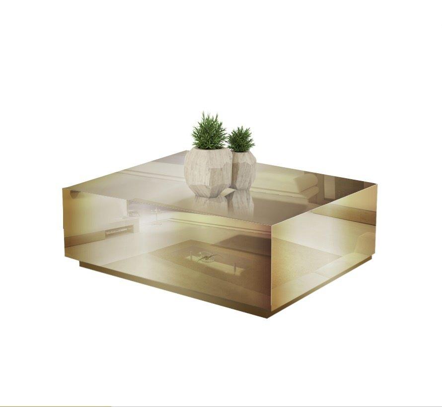 Salontafel Spiegelglas - Brons