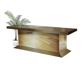 Hamava  Eettafel Spiegelglas - Brons