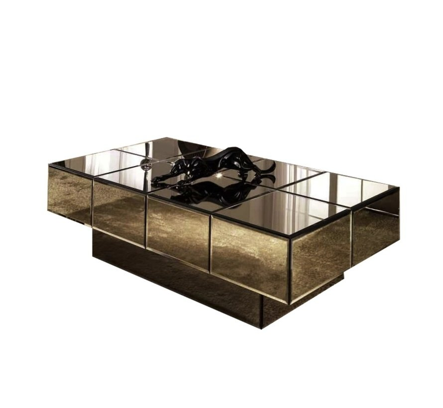 Salontafel Spiegelglas - Sepia