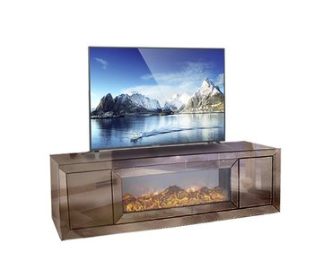 Hamava  TV-Meubel Spiegelglas - Sepia