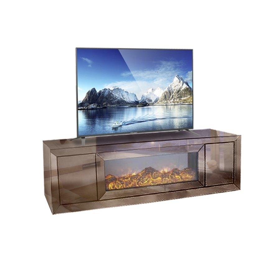TV-Meubel Spiegelglas - Sepia