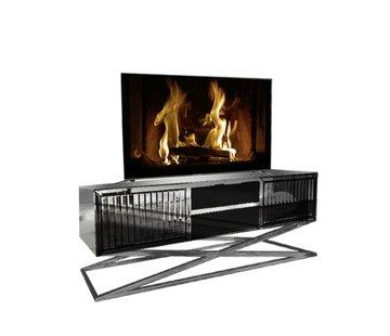 Terava TV-Meubel Spiegelglas - Antraciet