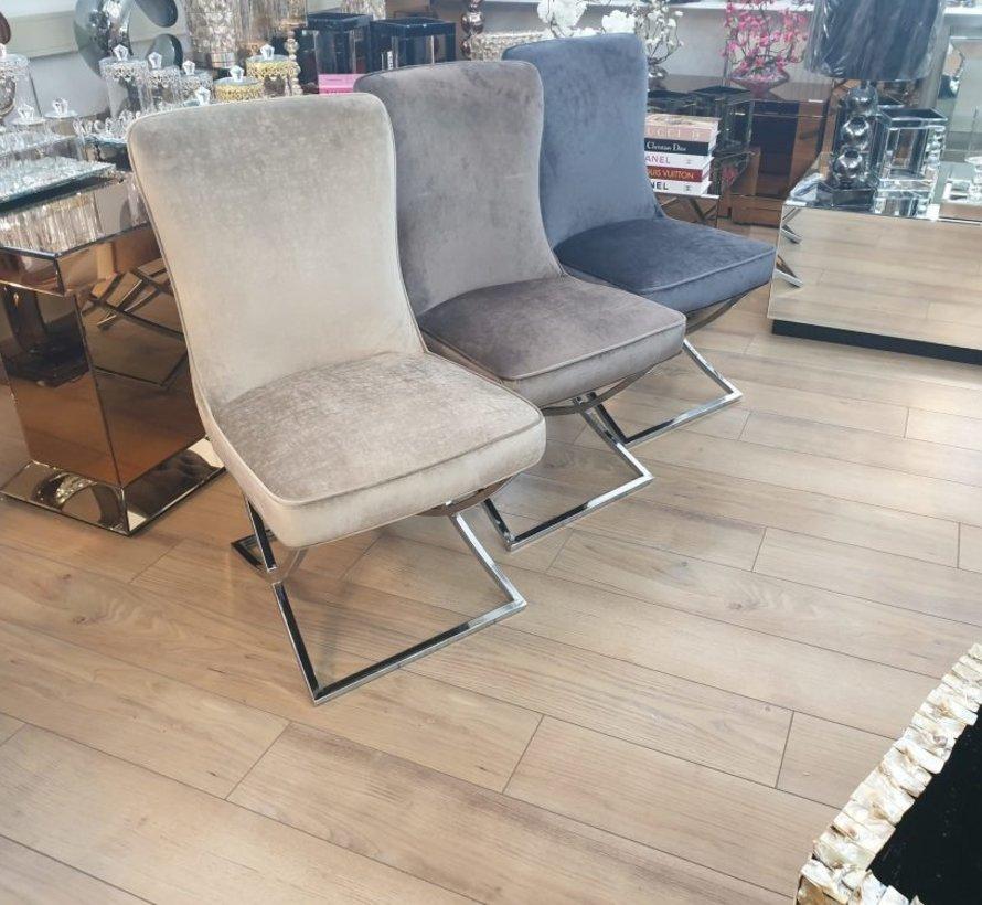 Richmond Velvet Style Stoel - Brown