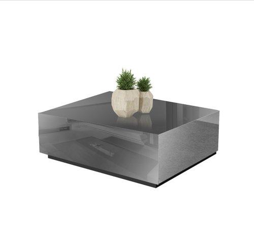 Hamava  Salontafel Spiegelglas - Antraciet
