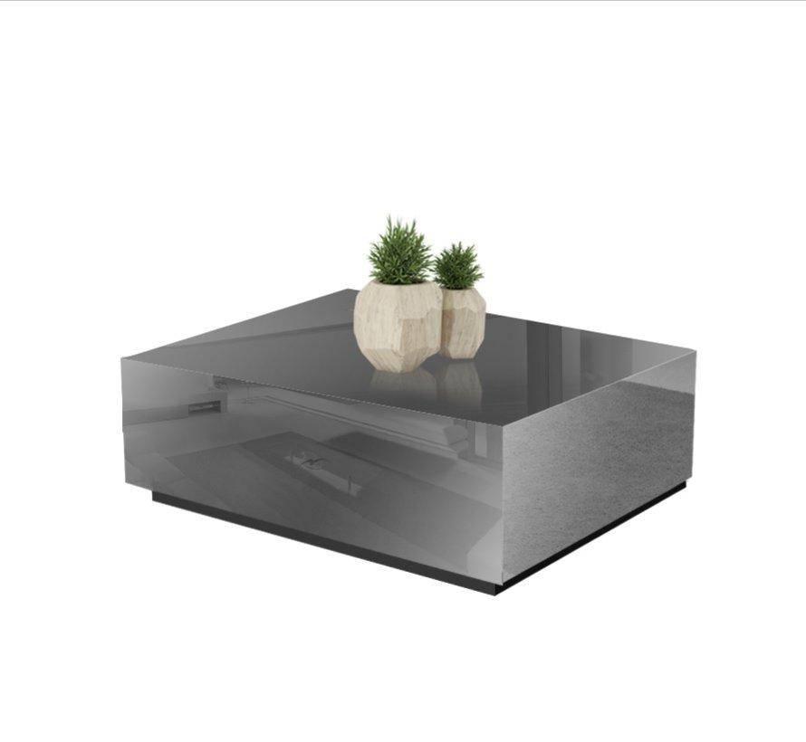 Salontafel Spiegelglas - Antraciet