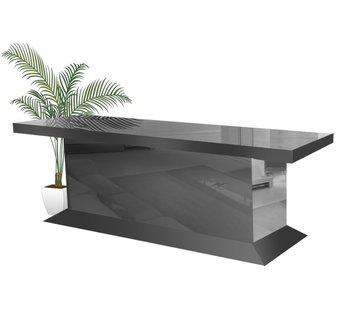 Hamava  Eettafel Spiegelglas - Antraciet