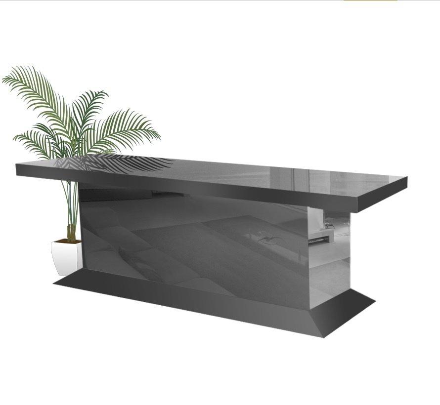Eettafel Spiegelglas - Antraciet