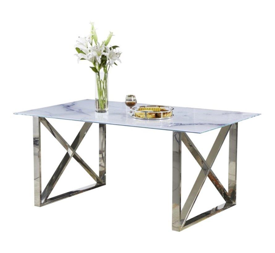 Eettafel Glas - Wit