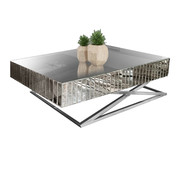 Terava Salontafel Spiegelglas - Zilver