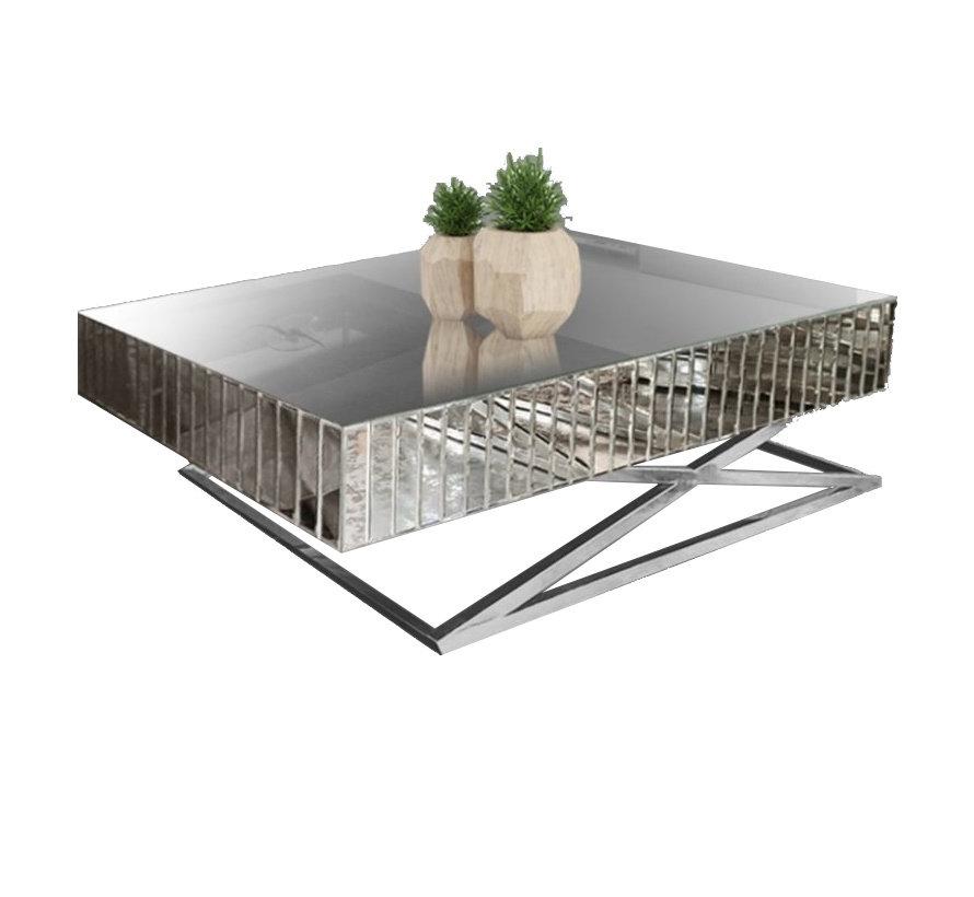 Salontafel Spiegelglas - Zilver