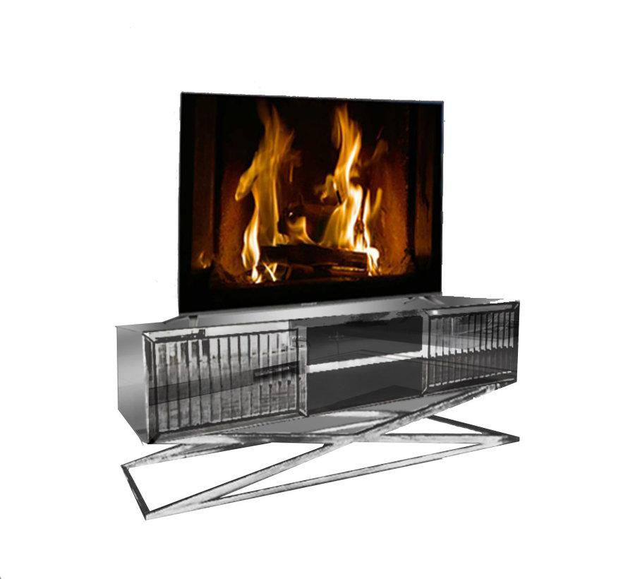 TV-Meubel Spiegelglas - Zilver