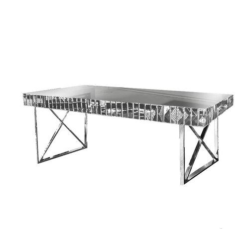 Terava Eettafel Spiegelglas - Zilver