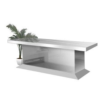 Hamava  Eettafel Spiegelglas - Zilver