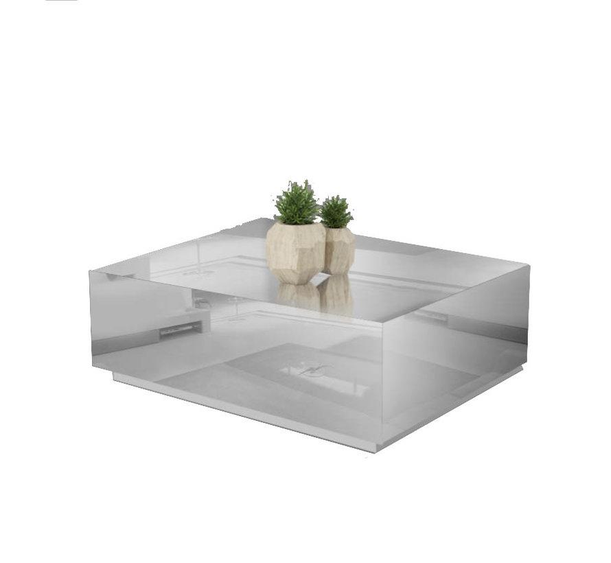 Bloktafel Spiegelglas - Zilver