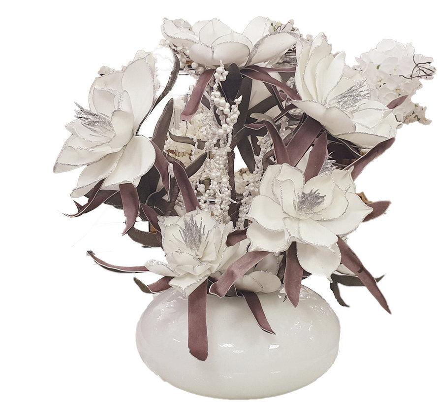 Bloemen - Silver Edged White Flowers