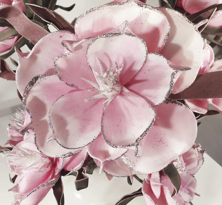 Bloemen - Silver Edged Pink Flowers
