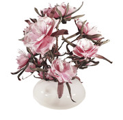 L&M Bloemen - Silver Edged Pink Flowers
