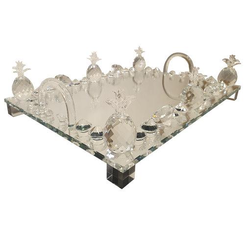 Erik Kuster Style Dienblad Tropical - Spiegelglas