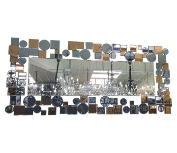 Erik Kuster Style Spiegel - Zilver, Brons, Antraciet