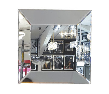 Erik Kuster Style Spiegel - Zilver ( in 4 kleuren 40x40 cm)