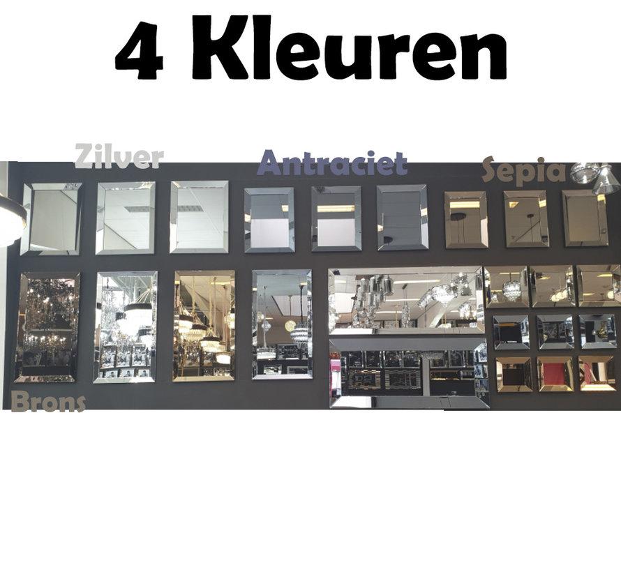 Spiegel - Antraciet ( in 4 kleuren 40x40 cm)