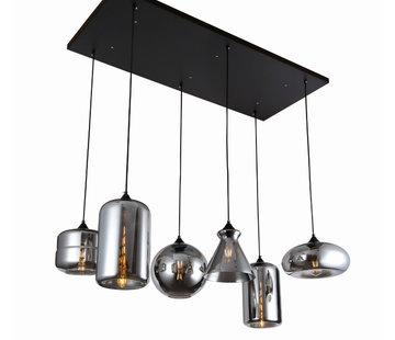 Erik Kuster Style Hanglamp - Remix (Smoking Glass)