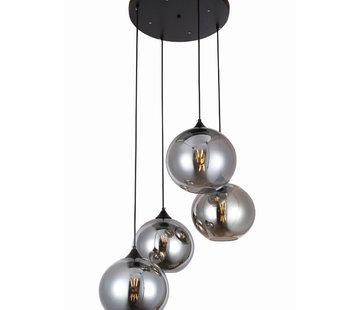 Erik Kuster Style Hanglamp - Quattro Buns (Smoking Glass)