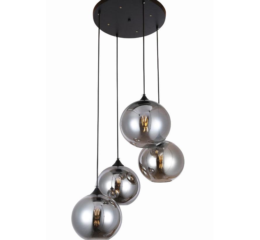 Hanglamp - Quattro Buns (Smoking Glass)