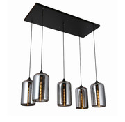 Erik Kuster Style Hanglamp - Angelina (Smoking Glass)