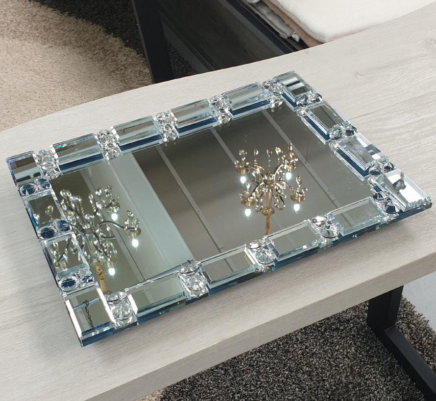 Dienblad Valentina - Spiegelglas