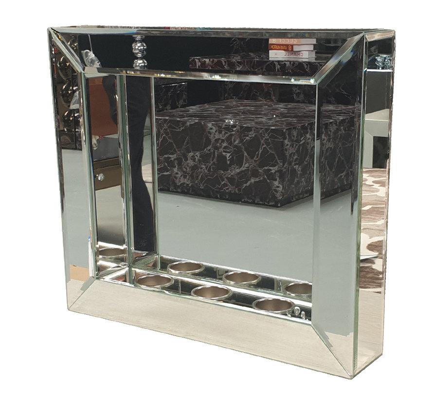 Spiegel - Zilver (incl. plaats voor waxinelichtjes)