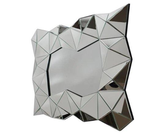 L&M Aladin Antraciet Spiegel - Rechthoekig -  Spiegelglas